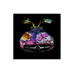 Art Photography Mercedes SLS Pop Art - Signed & limited edition