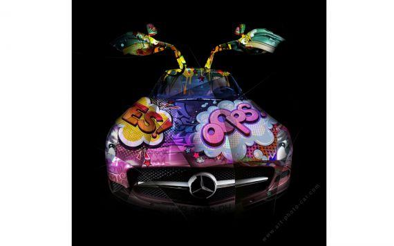 Photographie d'art Mercedes SLS Pop Art - Edition signée & limitée