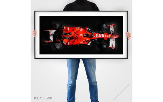 Formule 1 ferrari Tirage d'art signé & limité