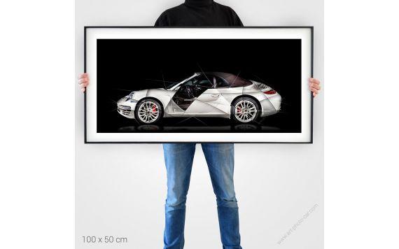 1 Porsche 911 997 Cabriolet Photo limitée signée et tableau d'art