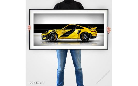 Porsche 911 GT2 RS type 991 artiste painting