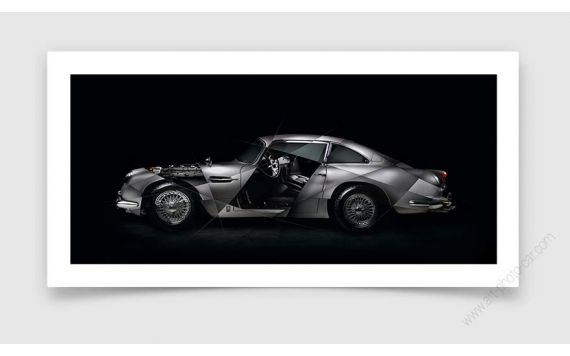 Tirage d'art Aston Martin DB5 signée & limitée