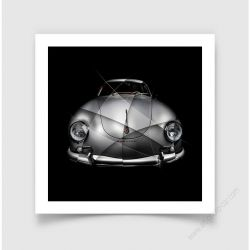 Fine Art Print Porsche 356 A Carrera GS 1500 limited edition