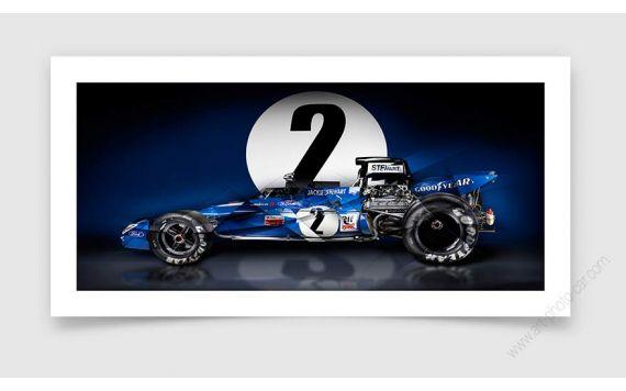 Fine Art Print Jackie stewart Tyrrell 003