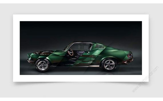 Photographie art limitée Ford Mustang