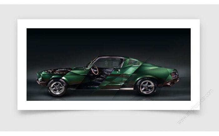Fine Art Print Ford Mustang Bullitt