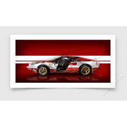Fine Art Print Ferrari 308 Gtb Rally