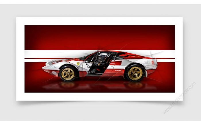 Ferrari 308 Gtb Rallye Tirage d'art edition limitée