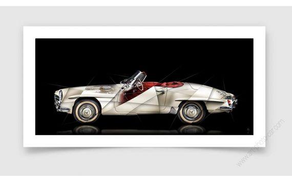 Tirage d'art Mercedes 190 SL II