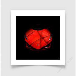 Fine Art Print Lamborghini Huracan red face