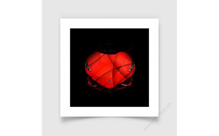 Art Photo Lamborghini Huracan red face