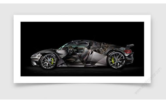 Porsche 918 Photo - Tirage d'art signé & limité