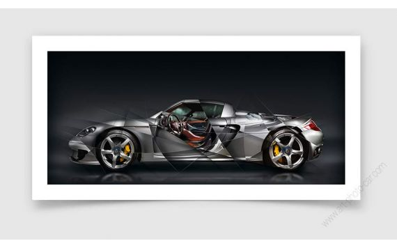 Porsche Carrera GT Tirage d'art