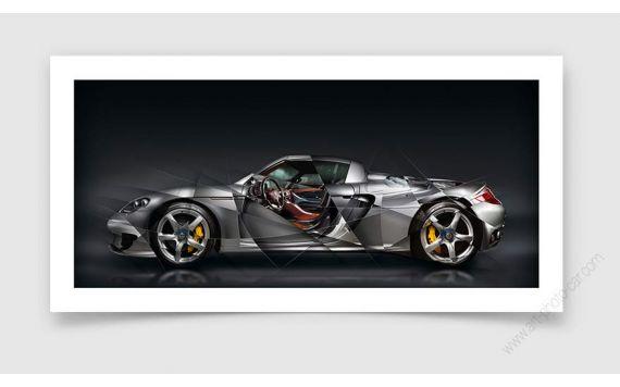 Porsche Carrera GT Tirage d'art