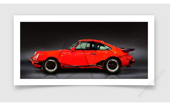 Art Photo Porsche 911 type 930 Turbo 1988 II