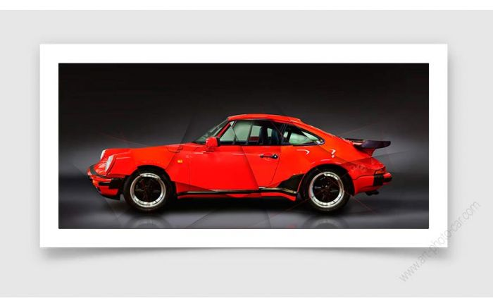 Tirage d'art Porsche 911 type 930 Turbo 1988 II