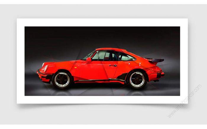 Art Photo Porsche 911 type 930 Turbo 1988 II