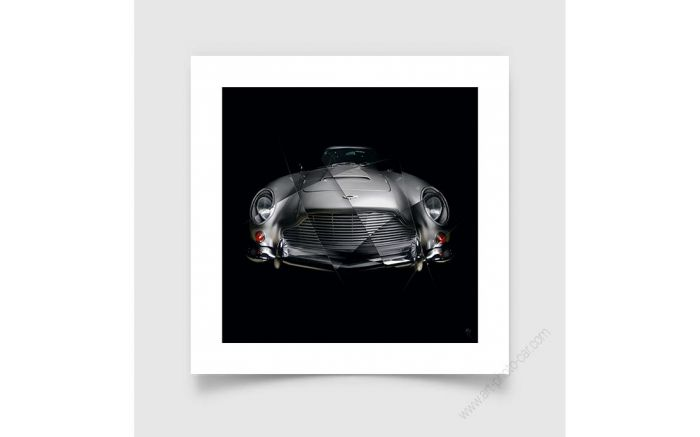 Tirage d'art Aston Martin DB5 signée et limitée