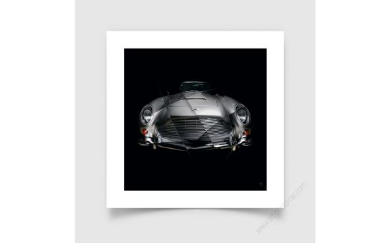 Fine art print Aston Martin DB5 signed limited