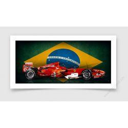 Fine Art Print Formula 1 Felipe Massa Edition