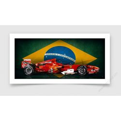 Tirage d'art Formule 1 Felipe Massa Edition