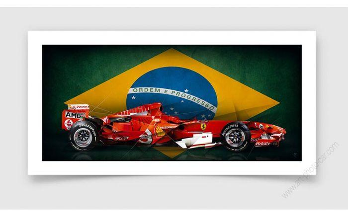 Formula 1 Felipe Massa Edition Ferrari Art Photo