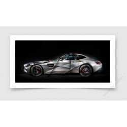 Fine Art Print Mercedes GT AMG II