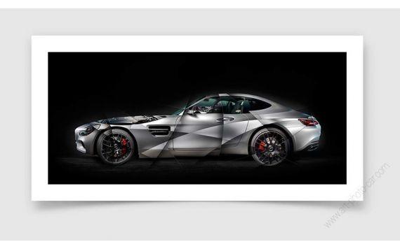 Mercedes GT AMG Photo - Photographie signée & limitée