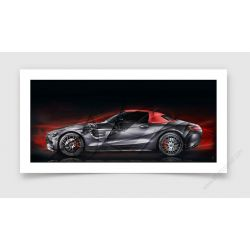 Fine Art Print Mercedes AMG GT 50 RED Edition II
