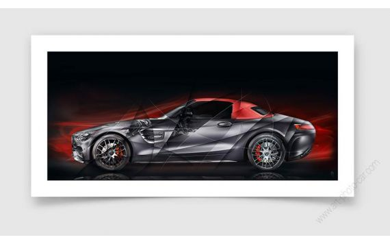 Tirage d'art Mercedes AMG GT RED Edition 50 II