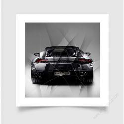 Fine Art Print Lamborghini Huracan grey back