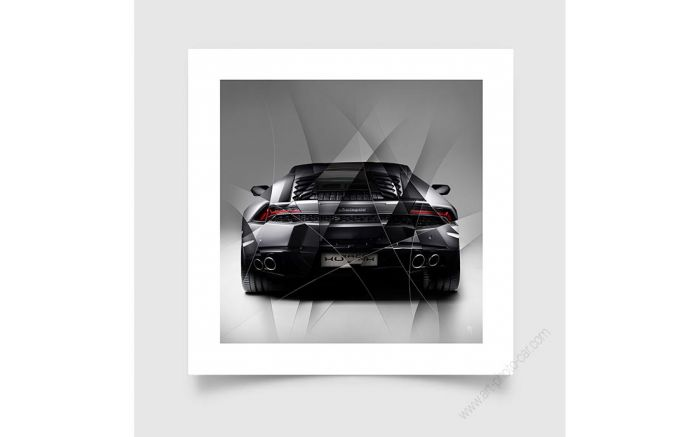 Photo d'art Lamborghini Huracan grey back