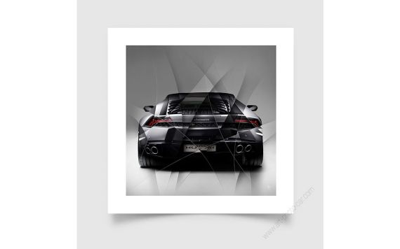 Art Photo Lamborghini Huracan grey back