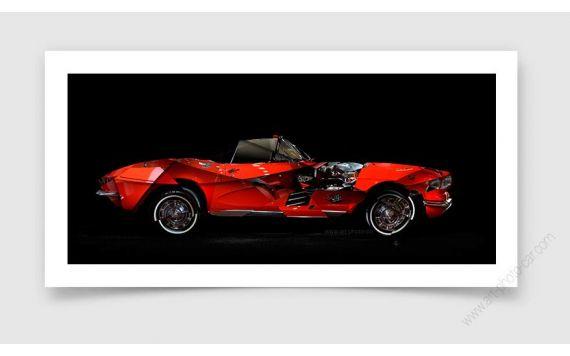 Corvette C1 Photo - Tirage d'art signée & limitée