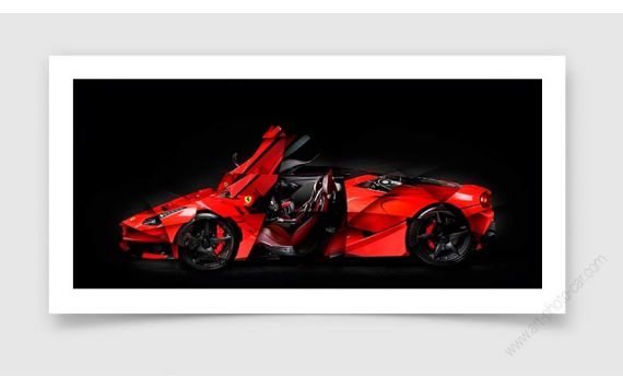 Ferrari art Laferrari Photo - Tirage d'art signé & limité