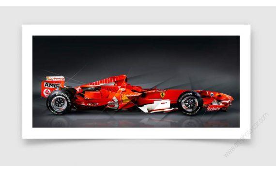 Formule 1 Ferrari Tirage d'art