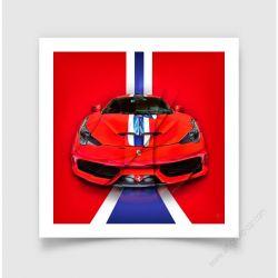Tirage d'art Ferrari 458 Speciale