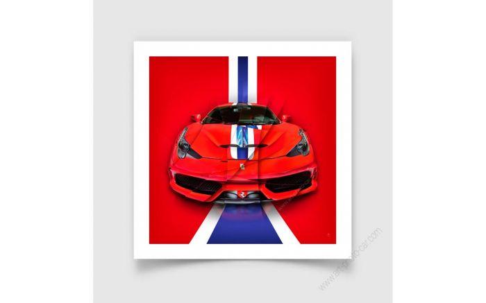 Fine Art Print Ferrari 458 Speciale