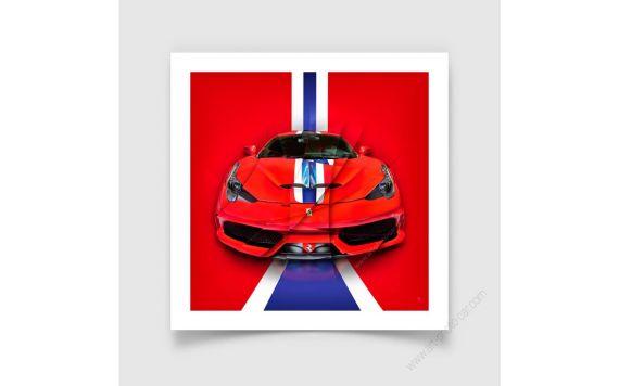 Tirage d'art et tableau Ferrari 458 Speciale