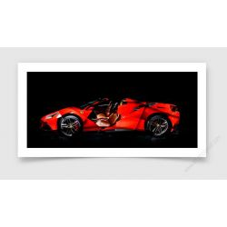Tirage d'art Ferrari 488 SPIDER