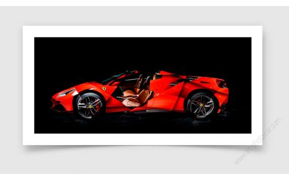 Ferrari 488 SPIDER Photo - Signed & Limited fine art print