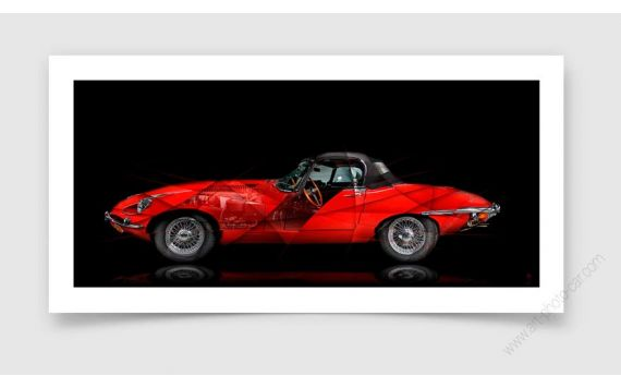 Photo d'art Jaguar Type E II
