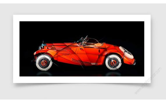 Tirage d'art Mercedes 290 Roadster II