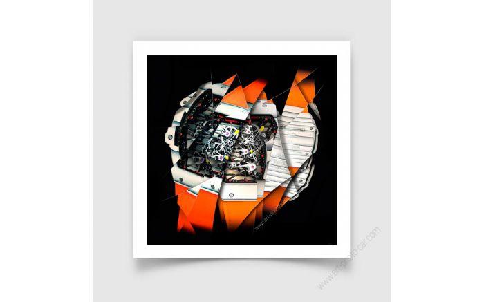 Tirage d'art Montre & Horlogerie Richard Mille RM 27-02 Rafael Nadal signée et limitée