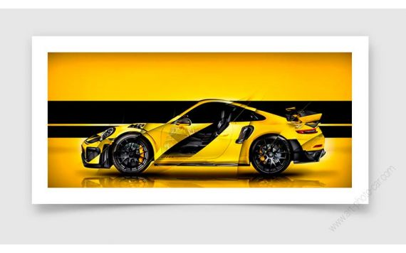 Porsche 911 GT2 RS Type 991 signed limited Fine Art Print