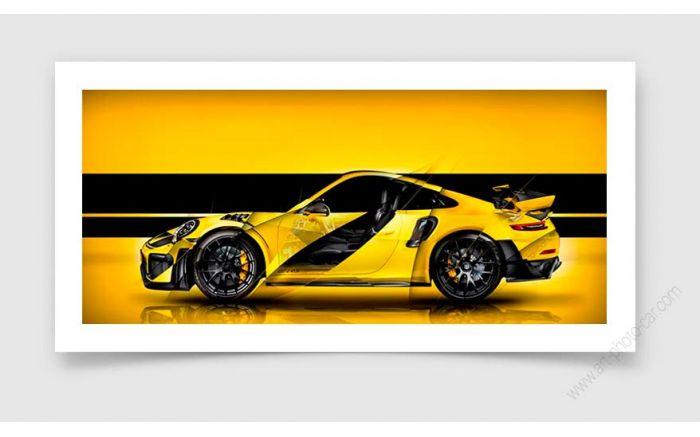 Porsche 911 GT2 RS Type 991 I Tirage d'art signé