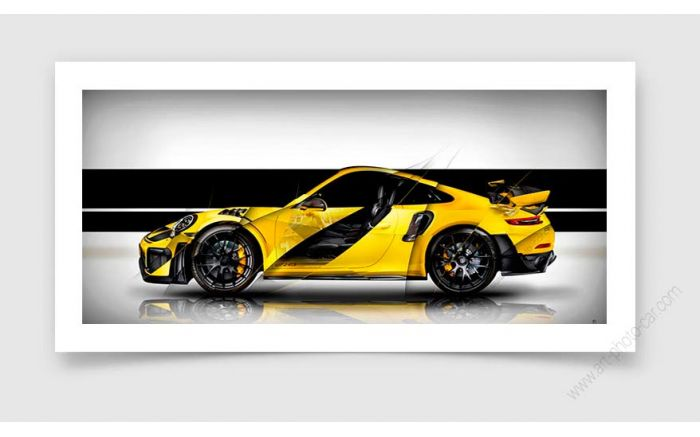 Porsche 911 GT2 RS type 991 White Edition Tableau Photo