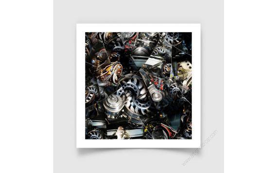 Porsche Motor, Fine Art Print of Porsche engine