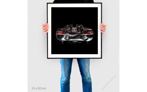 Tirage d'art Porsche 918 back