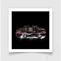 Art Photo Porsche 918 back